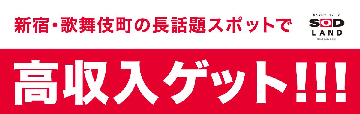 SOD LAND(エスオーディーランド)新宿歌舞伎町のガールズバー 高収入求人募集情報